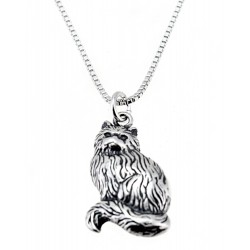 Sterling Silver Cat Pendant With Chain