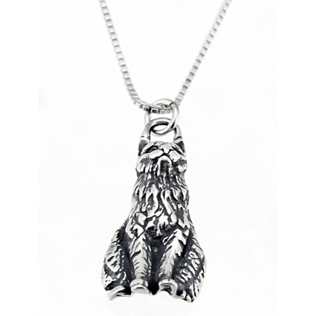 Sterling Silver Sitting Cat Pendant with Chain