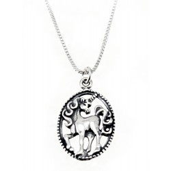 Sterling Silver Unicorn Pendant with Chain