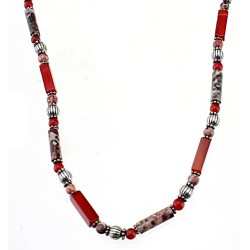 Southwestern Sterling Silver and Gemstone Necklace