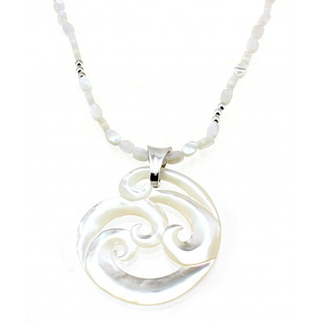 Sterling Silver & Mother of Pearl Necklace