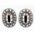 Sterling Silver Marcasite Earrings with Black Stone