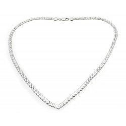 Sterling Silver Riccio V Necklace