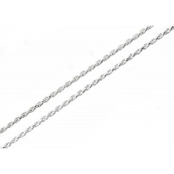 Sterling Silver Rope Chain 24 Inch