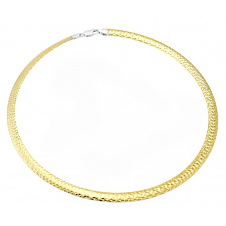 Reversible Sterling Silver Omega Necklace