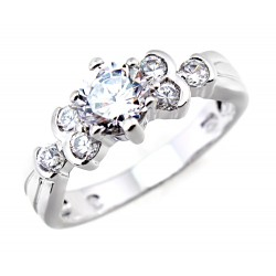 Sterling Silver Ring with 1.35ct Cubic Zirconia