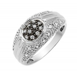 10K White Gold Ladies Ring w Diamond