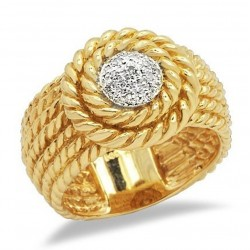 14K Solid Gold Ring with Diamond