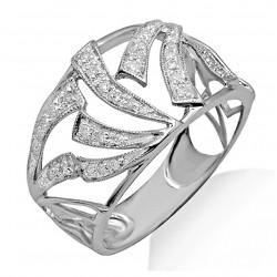 14K White Gold Ring w Diamond Size 7