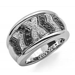 14K Gold Ladies Ring with Black Diamond