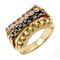 10K Yellow Gold Ring with Sapphire