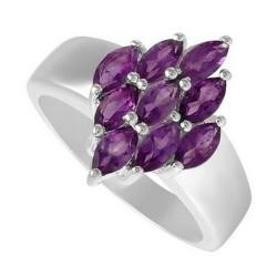 Sterling Silver Ladies Ring w Amethyst