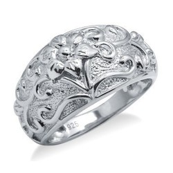 Sterling Silver Ring with Flower