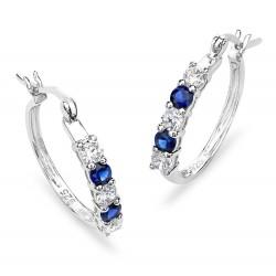 Silver Elegance Sterling Silver Hoop Earrings