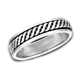 Sterling Silver Ladies Spinning Ring