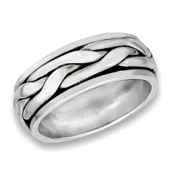Sterling Silver Unisex Spinning Ring