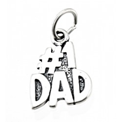 Sterling Silver DAD Charm
