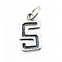 Sterling Silver Charm Jersey Number 5