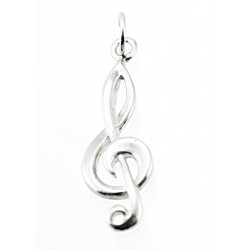 Sterling Silver Clef Charm