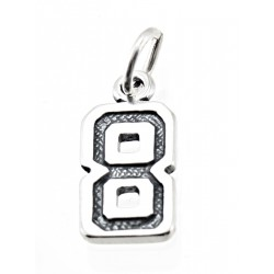 Sterling Silver Charm Jersey Number 8