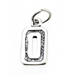 Sterling Silver Charm Jersey Number 0