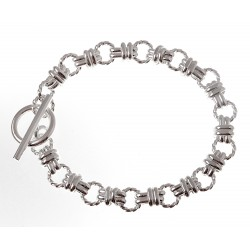 Sterling Silver Toggle Bracelet 7.5 Inch Long