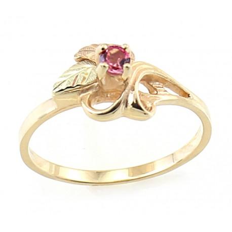 10K Black Hills Gold Ladies Ring with 3MM Turmaline